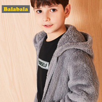 巴拉巴拉童装男童外套中大童儿童秋冬2017新款长袖加绒保暖外衣潮