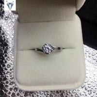 50分仿真钻戒钻石求婚戒指女情侣对戒纯银戒指镀铂金女友礼物刻字