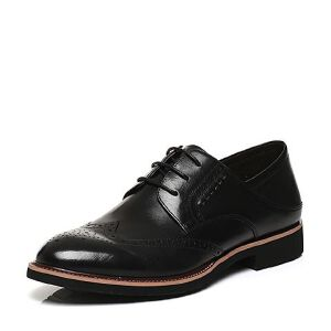 BASTO/百思图2017春季专柜同款牛皮英伦布洛克系带男皮鞋AYF04AM7