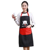 双面防水围裙可爱小熊围裙 厨房防污防油护衣罩衣 男女款工作服