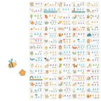 防水姓名贴纸定制幼儿园宝宝入园 文具书本水杯标签贴纸清新手绘