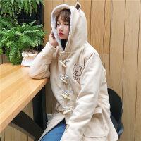 秋冬斗篷毛呢外套女中长款韩国学生矮个子呢子牛角扣大衣反季女装