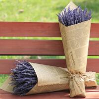 薰衣草干花束客厅家居装饰真花安神助睡眠去异味女友礼物花束礼盒 干树枝