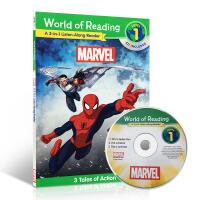 英文原版World of Reading: Marvel Marvel 3-In-1Listen-Along Read