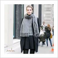 蒙马特大街秋冬女羊毛混纺围巾披肩加厚两用冬季保暖纯色素色