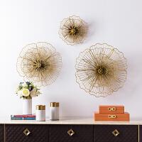 壁饰创意家居客厅电视柜沙发背景墙面玄关立体装饰挂件 金属花朵