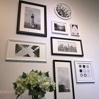 冲印照片竖版走廊玄关客厅简约背景相框挂墙 组合照片墙装饰 悬挂 A款 8框 备注框色
