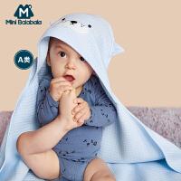 迷你巴拉巴拉新生儿包被秋装新款儿童空气层夹棉布内着包衣