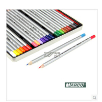马可7120水溶性彩色铅笔24色铁盒美术绘画彩笔水溶彩铅水彩铅笔