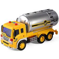 大号惯性滑行油罐车工儿童玩具车男孩子程车带声光讲故事军事战车