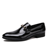 DAZED CONFUSEDU  牛皮时尚商务休闲皮鞋男尖头英伦漆皮男鞋亮皮潮流单鞋子