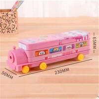 小学生文具盒儿童多功能铅笔盒创意火车大双层男女铁盒笔盒礼品