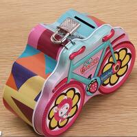 六一儿童礼物创意马口铁自行车存钱罐储蓄罐幼儿园奖品