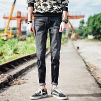 新款2018男士裤子夏季男士牛仔裤韩版修身牛仔裤男青年男生休潮流