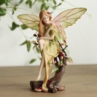 欧式田园创意家居装饰品摆件婚庆工艺品情人节礼物花仙子森林天使