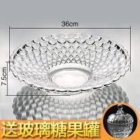 透明水晶玻璃 欧式果盘创意 现代 客厅 水果盘 沙拉干果盘 糖果盆