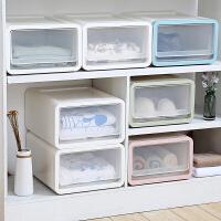 抽屉式叠加收纳箱塑料衣柜整理箱衣服储物箱衣物收纳柜透明收纳盒