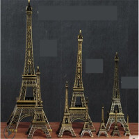 巴黎埃菲尔铁塔摆件模型家居房间客厅创意装饰品生日礼物小工艺品礼品