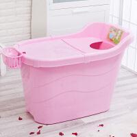 物有物语 浴盆成人 多功能洗澡桶塑料按摩亲子泡澡桶大号儿童洗澡桶家用浴缸浴桶加厚带盖沐浴桶
