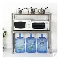 厨房用品置物架层架不锈钢微波炉架2层多功能收纳架烤箱架子直销