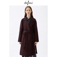 伊芙丽2018冬装新款韩版时尚女装毛呢外套1187970431