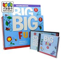 原版进口培生儿童美语旗舰课程 Big Fun 幼少儿教材第1级套装包含学生书+练习册+课堂CD+DVD+读写练习CLIL教学法全程评测学