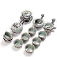 简易功夫茶具整套陶瓷器6人套装家用茶杯办公室杯子
