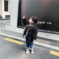 童装2018冬装新款儿童中长款韩版男女童连帽棉袄外套羽绒