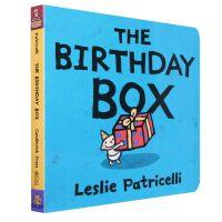 进口英文原版正版The Birthday Box生日礼物Leslie Patricelli启蒙纸板书绘本board b