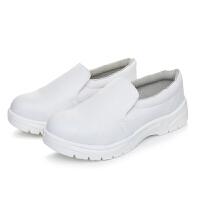 谋福 防静电鞋白色PU钢包头劳保鞋舒适男安全工作鞋透气耐磨无尘洁净鞋