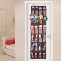 收纳挂袋 多层大号鞋子墙上悬挂式寝室透明网袋布艺