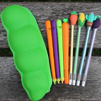 8支装可爱中性笔创意卡通小学生奖励礼品文具仿真水果蔬菜笔套装
