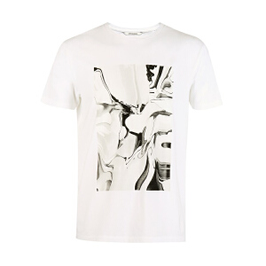 杰克琼斯/JackJones时尚百搭新款T恤 抽象--6-1-1-217101503A06