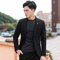 秋季男士休闲西装修身韩版帅气商务小西服外套男潮流薄款上衣单件