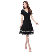 广场舞服装套装新款裙装蕾丝边印度舞拉丁舞演出裙子夏
