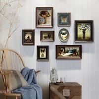 美式风格复古做旧照片墙实木相框挂墙组合创意装饰背景墙 品味之选-8框做旧复古美式风