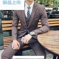 西装男英伦风韩版修身套装商务休闲结婚西服礼服小码男装潮