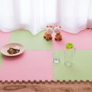 明德覆膜宝宝爬行垫 大号拼图地毯60*60*1�M四片装 地毯地垫 卧室 客厅 地板拼接泡沫地垫
