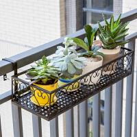 索尔诺欧式阳台花架 铁艺栏杆多层悬挂式花盆架壁挂绿萝多肉花架1