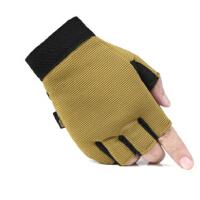 耐磨防滑运动骑行登山攀岩半指手套 户外战术低调款
