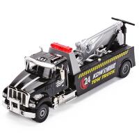 工程车拖车儿童玩具汽车模型仿真美式道路拯救车合金车模