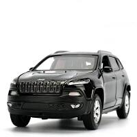 吉普jeep越野车合金大切诺基自由光汽车模型金属回力玩具车
