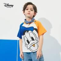 6.21超品【4件2.2折:28.3元】迪士尼童装男童插肩短袖T恤2021夏季新款洋气儿童针织卡通上衣