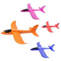 儿童亲子户外玩具男孩泡沫飞机模型手抛投掷回旋滑翔拼装航模
