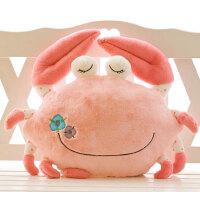 大闸蟹公仔毛绒玩具抱枕 螃蟹飞蟹玩偶男女朋友靠垫