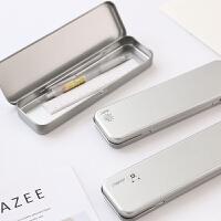 韩国创意马口铁文具盒小学生男铅笔盒小清新多功能铁盒文具收纳盒