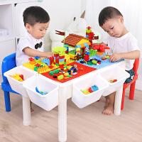 积木桌子儿童玩具桌拼装玩具6-7-8-10岁男孩塑料拼插3