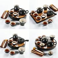 简约现代客厅办公室整套黑陶瓷茶壶小茶台