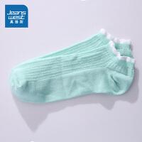 [618提前购专享价:4.9元]真维斯女装 2019夏装新款 花边提花船袜
