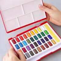 德国辉柏嘉24色固体水彩颜料套装初学者手绘36色48色水彩